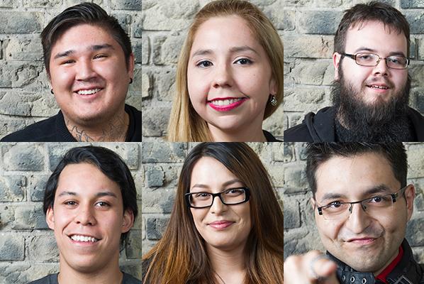 Above top row: Kelsey Smoke, Frances Koncan and Cody Blacksmith; bottom row: Matthew De Paz, Melissa Raven, Vince Fontaine