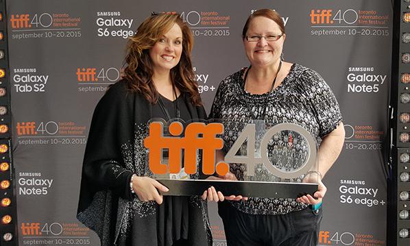 Shelly Quade (left) and Chris Vajcner TIFF 2015