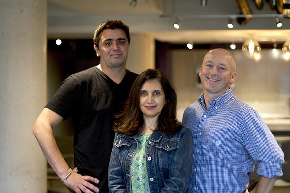 Jaime Escallon Buraglia, producer Elena Lombardi and Christopher Sweeney