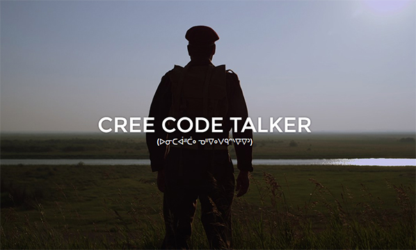 Cree Code Talker / Link to imagineNATIVE website