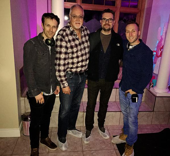 Kyle Rideout, NSI CEO John Gill, NSI programming director Brendon Sawatzky, Josh Epstein