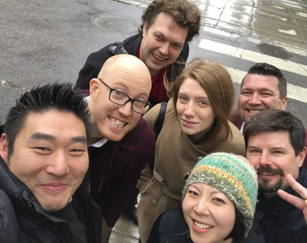 Arnold Lim, Ryan Bright, Jeremy Lutter, Susie Winters, Mark Wolff, Shayne Metcalfe and Jennifer Liao