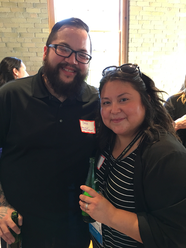 CBC's Melanie Hadley (also an NSI grad and board member) with Dez Loreen from Inuvialuit Communications Society